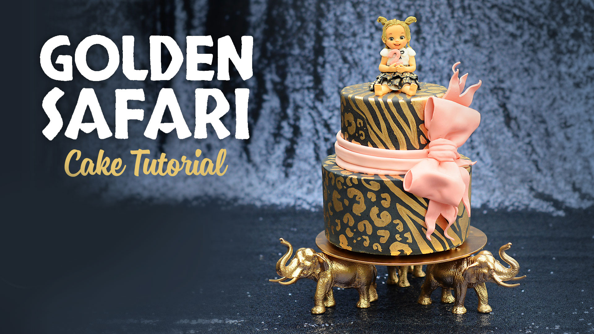Golden Safari Birthday Cake Sugar Geek Shop